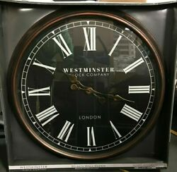 Westminster Clock Company Oversized 30 Wall Clock Black Brown FREE SHIPPING