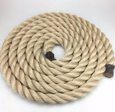20mm Synthetic Sisal Rope x 35 Metres, Cheap Sisal For Decking Garden & Boating