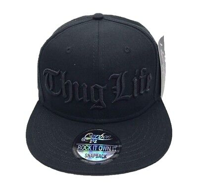 NEW THUG LIFE SNAPBACK BASEBALL CAP HIP HOP ERA FITTED FLAT PEAK HAT