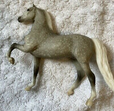 Breyer Reeves Molded main tail (white) Horse Appaloosa ca 1989 Dapple gray pony