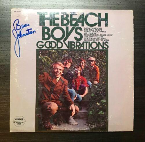 * BRUCE JOHNSTON * signed vinyl album * THE BEACH BOYS *GOOD VIBRATIONS* PROOF 3