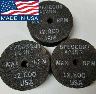 "25 PACK 4/""x1//4/""x5//8/"" Spedecut Abrasives Grinding Wheels P//N T2228 A24TBXX T27"