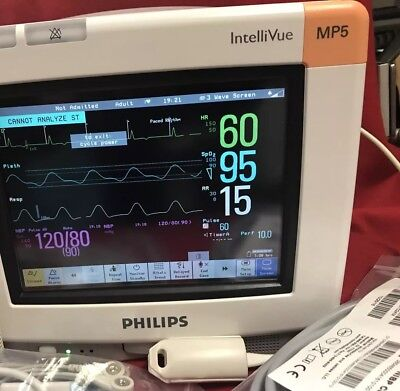 Philips Intvue MP5 Patient Monitor ECG SPO2 NIBP Certified 1 Year Warranty