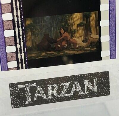 Disney Animation Authentic Film 5-Cell Strip TARZAN Adult Tarzan W/ Mother - Tarzan Movie Adult