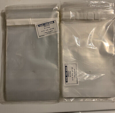 200 Count uline poly bags 6x8 2 Mil venthole Sealable S-11536 Clear New In Packa