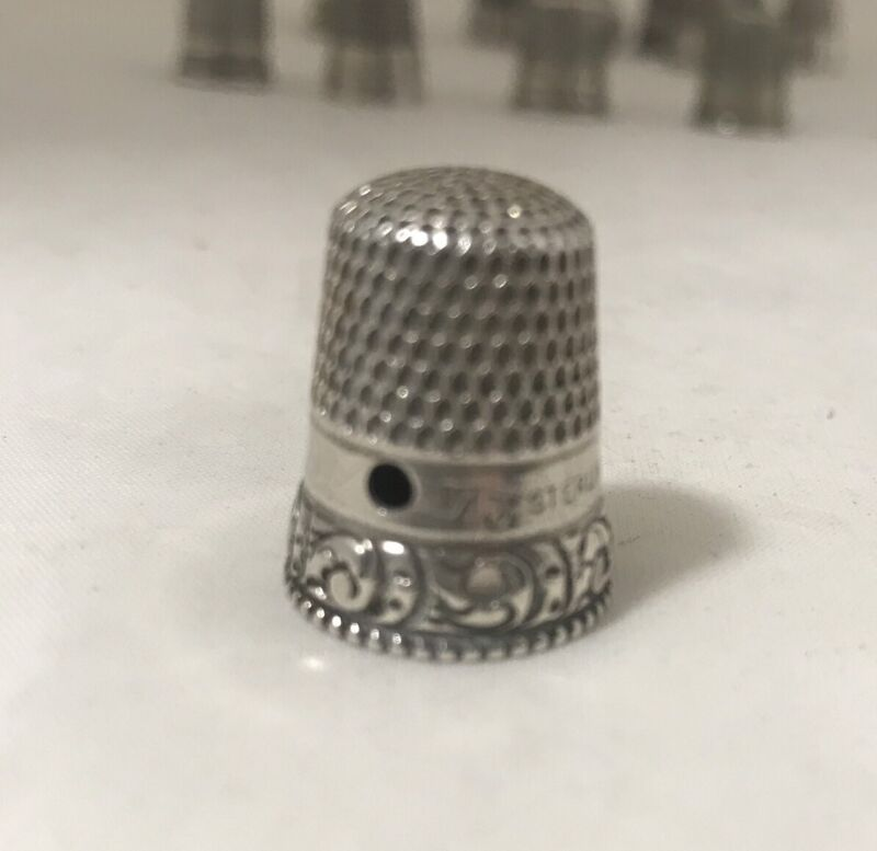 THIMBLE STERLING SILVER Size 7 NICE