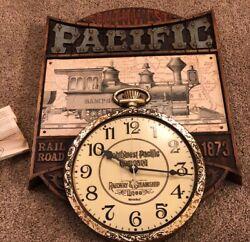 1974 Vintage Southwest Pacific Wall Clock Westclox Railroad Railway Train #46637
