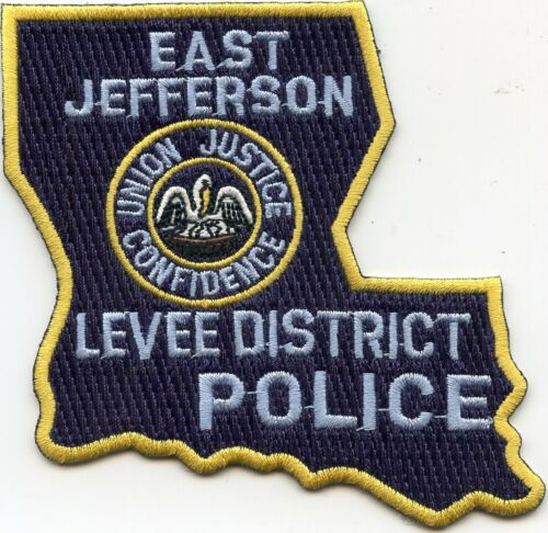 EAST JEFFERSON LEVEE DISTRICT LOUISIANA State Shape Shaped POLICE PATCH