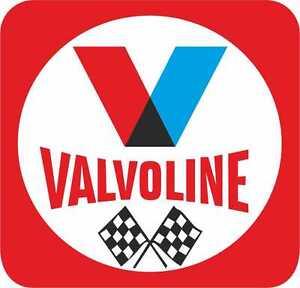 Clasico-Anos-70-VALVOLINE-Aceite-Con-Banderas-exterior-VINILO-MOTO-Pegatinas-2X