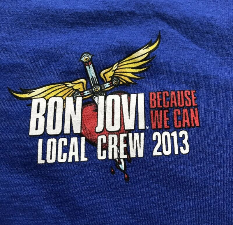 BON JOVI BECAUSE WE CAN 2013 WORLD TOUR XL CREW SHIRT UNWORN