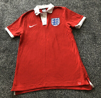 Nike England Football Red Polo Shirt Top 2016/2017 - Adults Size Medium M