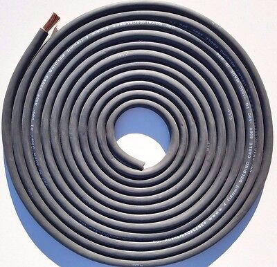 17 Foot 4 Awg Gauge Stranded Copper Power Wire Flexible Welding Battery Cable
