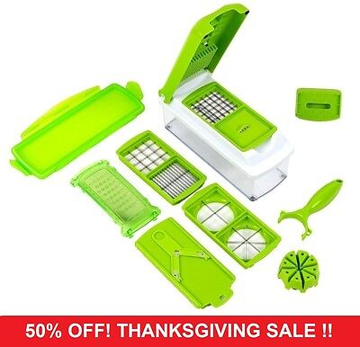 12 PC K20 Super Slicer Plus Vegetable Fruit Peeler Dicer Cutter Chopper Nicer