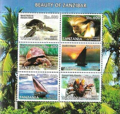 TANZANIA # 2428-2006  BEAUTY OF ZANZIBAR SOUVENIR SHEET