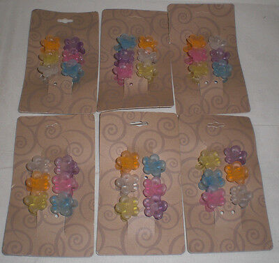 - Mini Flower Frosted Pastel Cute Plastic Hair Snap Claw Styling Lot of 36 Clips