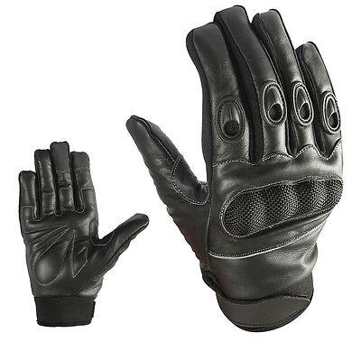 Sport Motorrad Handschuhe Vollfinger Sommer Leder Gloves Gr S  M  L  XL & 2XL ()