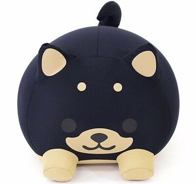MOGU Cushion Pillow Plush Doll Black Cute Dog F/S from Japan with tracking NEW