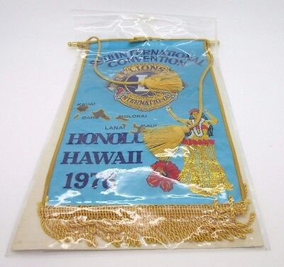 Vtg Lions Club 59th International Convention Banner 1976 Hawaii Made in Japan