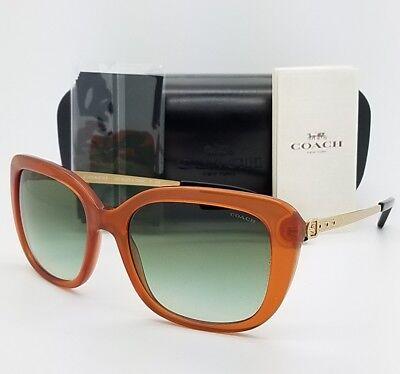 93e1d04e012c5 New Coach sunglasses HC8229 55028E 55mm Amber Gold Gradient brown 8229  AUTHENTIC