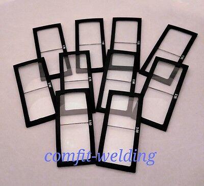 1.0-3.50 Diopter Welding Magnifier Lens Cheater Lens Welder Helmet Glass