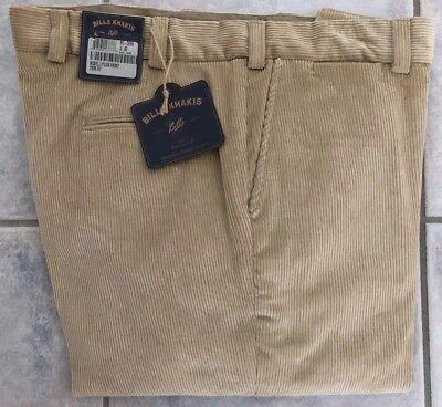 BRAND NEW-Bills khakis M3-CEM8 Size 40 Plain 8 WALE CORDUROY Cement MSRP $165 8 Wale Corduroy