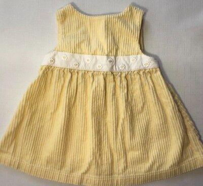 Gymboree Baby Girls 6-9 Months Yellow Daisy Corduroy Jumper Dress