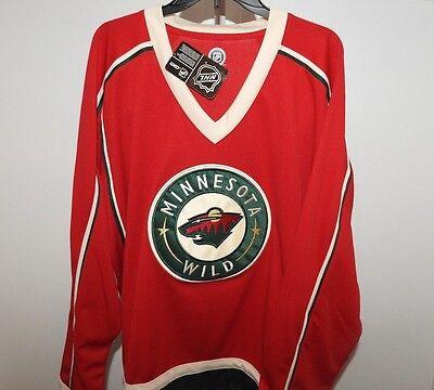 Nhl Minnesota Wild Hockey Jersey New Mens Sizes Msrp  60