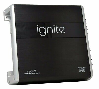 Ignite Audio 2 Channel Class A/B Car Amplifier 1600 Watts Max Power, R900/2