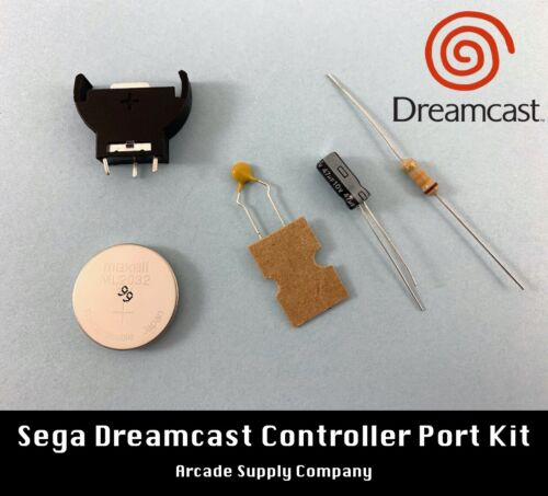 Sega Dreamcast Controller Port Repair Kit (with Battery Upgrade)