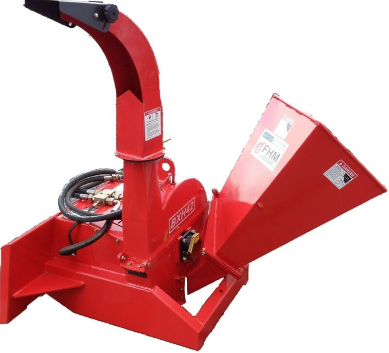 """4"""" Feed Wood Chipper Skid Steer Mount Direct Connect"""