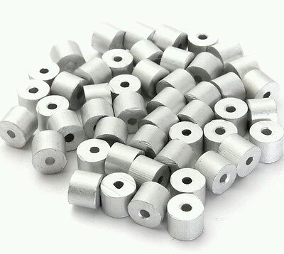 Aluminum Swage Stops For 116 Wire Rope Cable 100 200 500 And 1000 Pcs