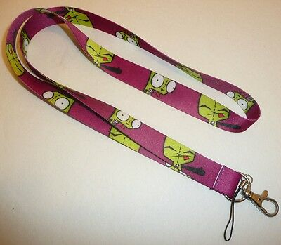Invader Zim Neck Lanyard - Robot Dog GIR Key Chain Alien Space Cartoon