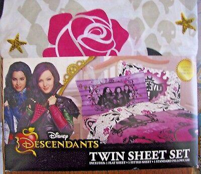 Disney Descendants Sheet Set 3 piece Cotton Rich Ultra soft