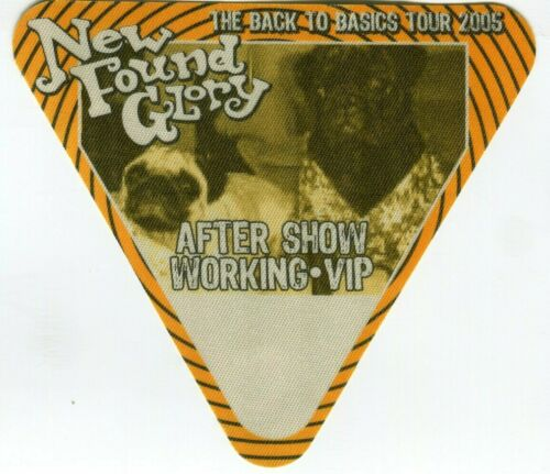 NEW FOUND GLORY 2005 Basics Tour Backstage Pass!!! custom concert stage Pass #5