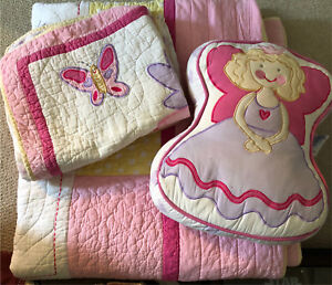 Princess and butterfly double/queen quilt with Shams