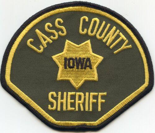 CASS COUNTY IOWA IA SHERIFF POLICE PATCH
