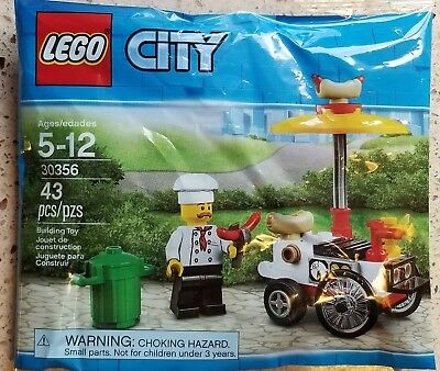 Hot Dog Stand Lego City 30356 Polybag  NEU /& OVP Hot Dog Wagen
