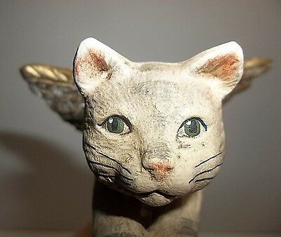 Vintage Walnut Ridge Collectibles ANGEL Tabby CAT Christmas Tree Ornament 1997