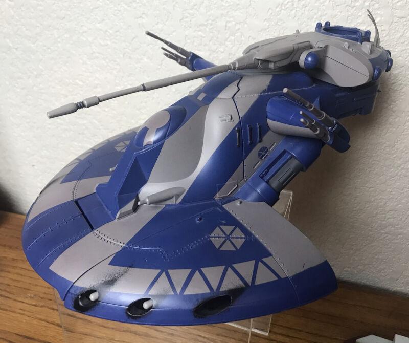 2002 HASBRO LFL C-0225 ATT TRADE FEDERATION TANK BLUE STAR WARS almost Complete