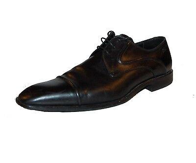 833dd675588 Hugo Boss Black Leather Lace Men s Dress Shoes Sz US 8 P O Good Condition