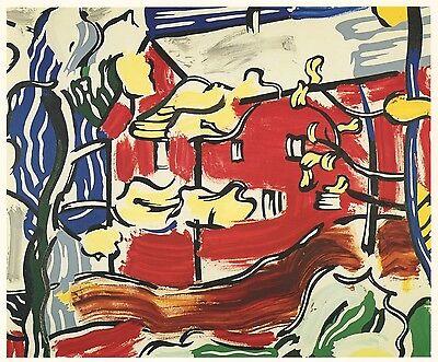 """Roy Lichtenstein """"Red Barn Through the Trees"""" 1984"""