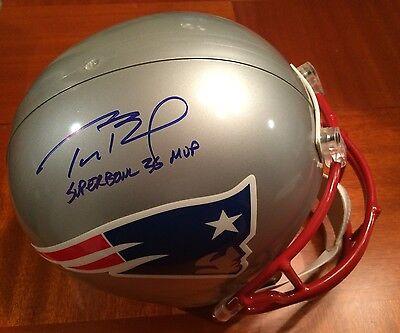 Tom Brady Signed New England Patriots Authentic Helmet Super Bowl 36 MVP Tristar