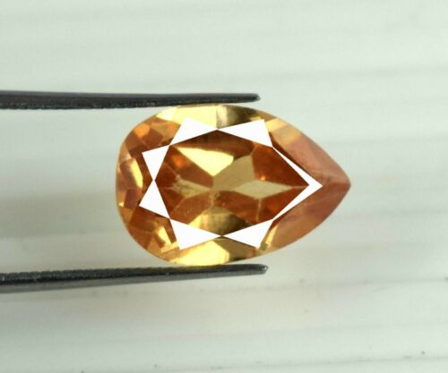Natural Pear Pakistan Brown Axinite 9.75 Ct Unheated Gemstone Certified V8106