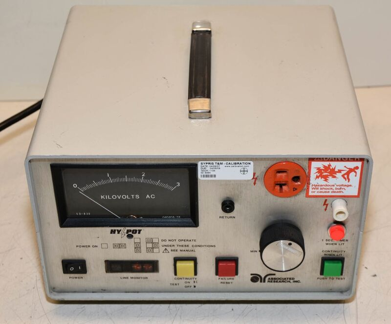 Associated Research HYpot & Ground Continuity Tester 4040AT