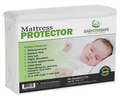 Best Waterproof Crib Mattress Protector Pad Hypoallergnic Fitted Qulted Sheet