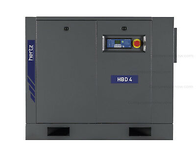 New Hertz 5-hp Base Mount Rotary Screw Air Compressor 3-phase Hbd4