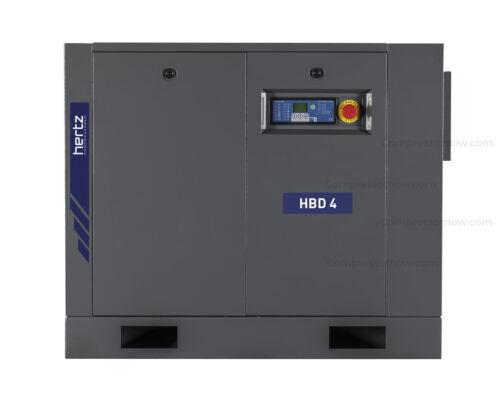 NEW HERTZ 5-HP BASE MOUNT ROTARY SCREW AIR COMPRESSOR 1-PHASE 230-VOLT HBD4#