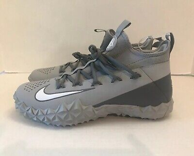 NIKE ALPHA HUARACHE 6 ELITE TURF SHOES LACROSSE WOLF GRAY 923426-012 SZ 10.5 New