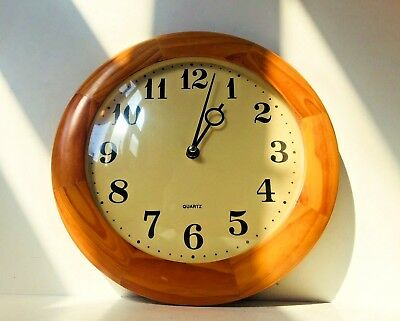 Used, Vtg German Mid Century Wooden Beech Wall Clock Georg Nelson Eames Junghans  for sale  Denmark