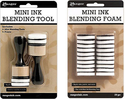 Ink Blending Tool - Ranger - Mini Ink Blending Tool-1 Round With Replacement Foams